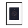 Astronomy Playing Cards Series II Framed Print - UH