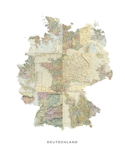 Map Countries: Deutschland Framed Print - USTAD HOME