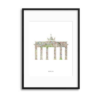 Map Forms: Berlin Brandendurger Tor Framed Print - UH