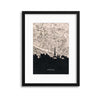 Paris Map Silhouette Framed Print - USTAD HOME