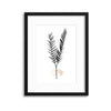 Tropical Leaves in Noir I Framed Print - UH