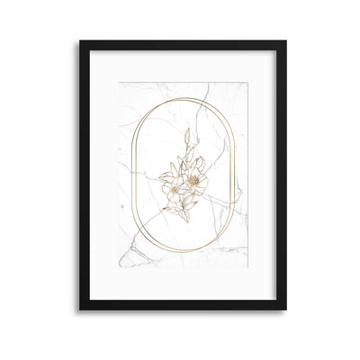 Marble Floral Chic 3 Framed Print - UH