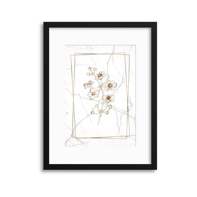 Marble Floral Chic 2 Framed Print - USTAD HOME