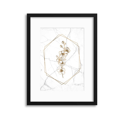 Marble Floral Chic 1 Framed Print - USTAD HOME