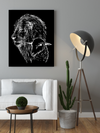 "Superb ""Lions Love"" Black and White Canvas Print - USTAD HOME"