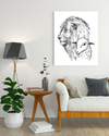 "Superb ""Lions Love"" White Canvas Print - USTAD HOME"