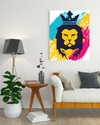 "High-Quality ""The Lion of Judah"" Mixed-1 Canvas Print - USTAD HOME"