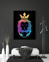 "High-Quality ""The Lion of Judah"" Black Canvas Print - USTAD HOME"
