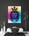 "High-Quality ""The Lion of Judah"" Mixed-2 Canvas Print - USTAD HOME"