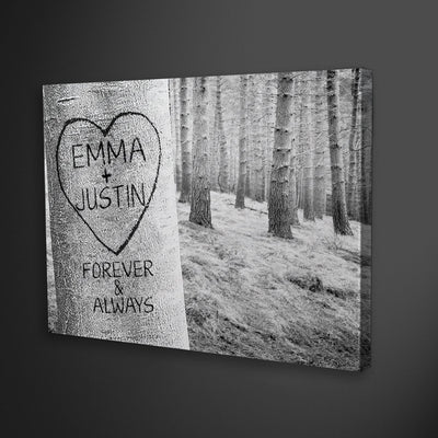 "Delightful ""FOREVER MY LOVE TREE"" Canvas - UH"