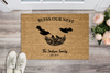 "Premium ""BLESS OUR NEST"" Personalized Doormat - UH"