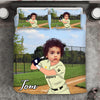 Boy Personalised Baseball Player 3-Piece Bedding Set - USTAD HOME