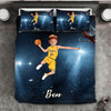 Boy Personalised Basketball Player 3-Piece Bedding Set - USTAD HOME