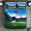 Boy Personalised Football Player 3-Piece Bedding Set - USTAD HOME