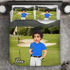 Boy Personalised Golf Player 3-Piece Bedding Set - USTAD HOME