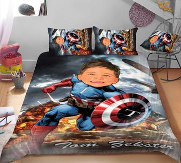 Personalised Captain American 3-Piece Bedding Set - UH