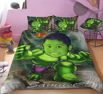 Personalised Hulk 3-Piece Bedding Set - UH