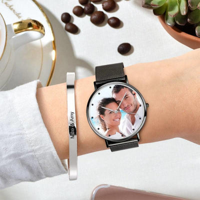 Women's Chic Alloy Photo Watch - USTAD HOME