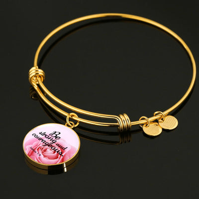 Be Strong and Courageous Luxury Bangle - UH