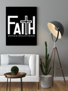 "Motivational ""Faith Moves Mountains"" Canvas Print - USTAD HOME"