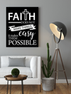 "Impressive ""FAITH"" Canvas Print - USTAD HOME"