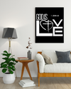"Impressive ""GOD is LOVE"" Canvas Print - USTAD HOME"