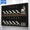 "Premium ""Boss vs. Leader"" Canvas - UH"