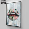 "High-Quality ""Bouquet Lips"" Canvas - UH"