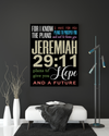 "Marvelous ""JEREMIAH 29:11"" Canvas Print - USTAD HOME"