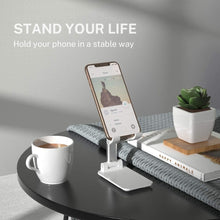 Carregar imagem no visualizador da galeria, New Desk Mobile Phone Holder Stand For iPhone iPad Xiaomi Adjustable Desktop Tablet Holder Universal Table Cell Phone Stand