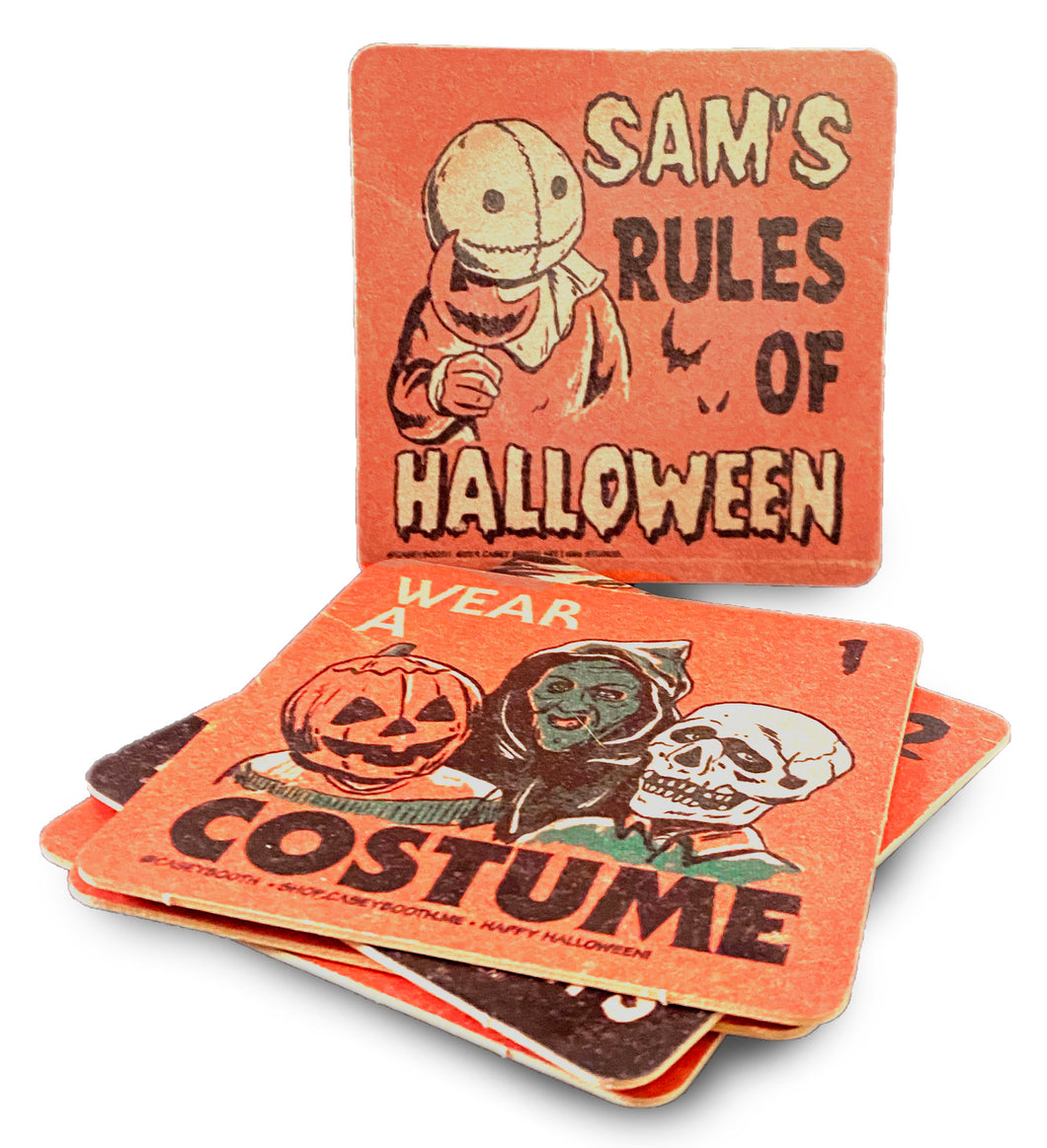 Rules Of Halloween Coasters