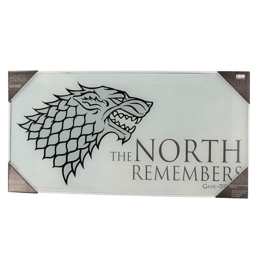 Poster Game of Thrones - The North Remembers - Vidro Temperado