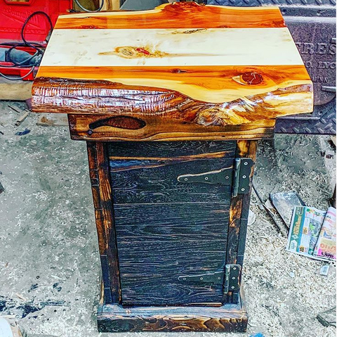 Live Edge Grilling Cabinet