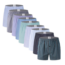 将图片加载到图库查看器,10pcs Classic Striped Men Boxer Shorts Loose Woven Arrow Panties Cotton Cuecas Boxers Underwear for Men Calzoncillos Hombre