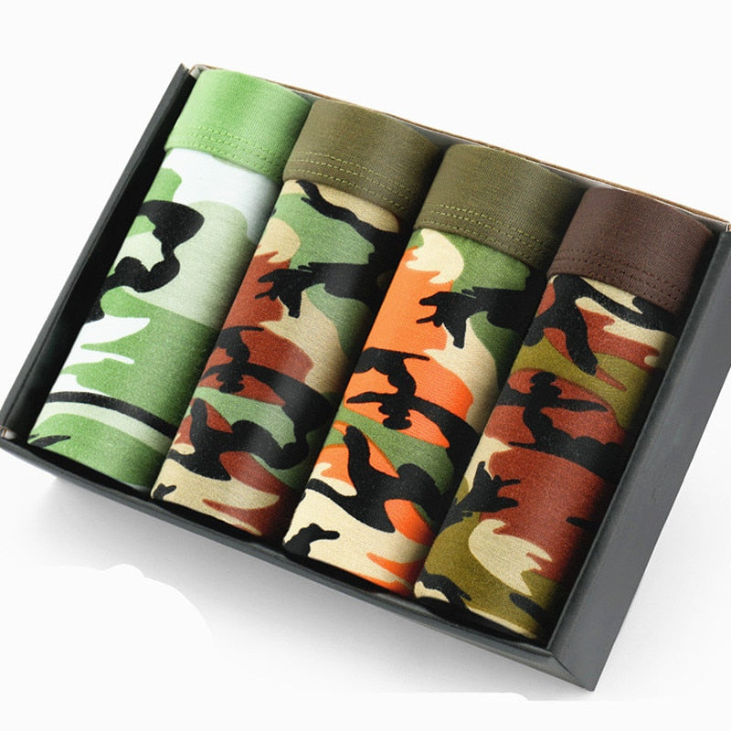 men's military camouflage printed bamboo underwear man underwear brands Boxer Shorts