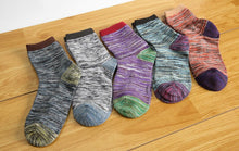 将图片加载到图库查看器,Fashion Colorful Socks Men Hit Color Stripes big dot Jacquard filled optic combed Cotton Male Sock business sock 5 pairs/Lot