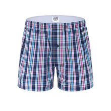 将图片加载到图库查看器,3 Pack Classic Plaid Men Boxer Shorts Mens Underwear Trunks Cotton Underwear boxers for male Woven Homme Boxer Arrow Panties