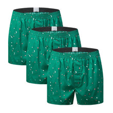 将图片加载到图库查看器,3Pcs/Lot Classic Print Men's Boxers 100% Cotton Oversize Mens Underwear Trunks Woven Homme Arrow Panties Boxer Plus Size