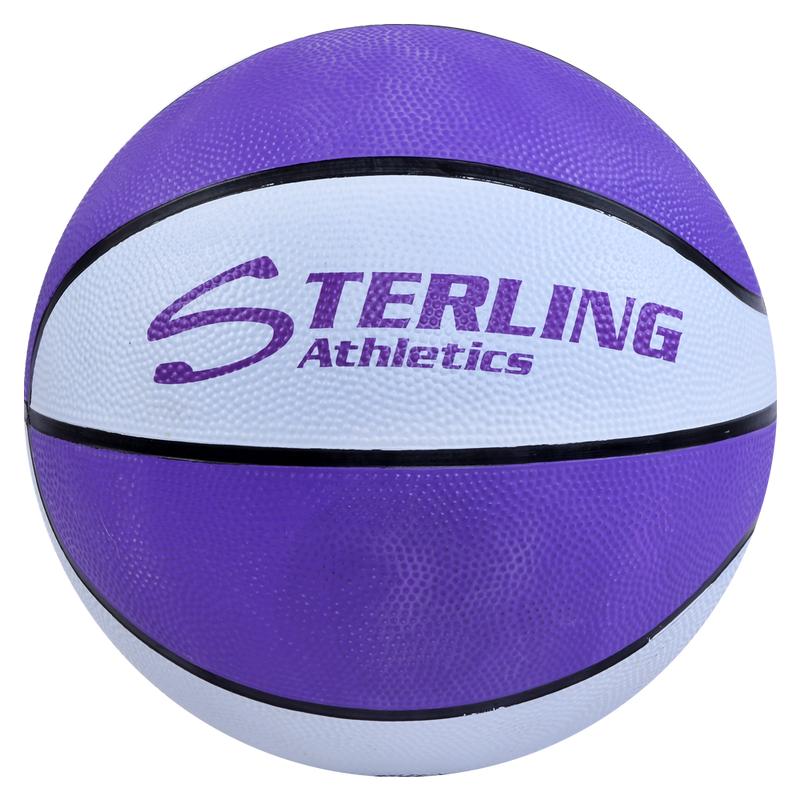 Sterling Athletics Purple/White Indoor/Outdoor Rubber Basketball
