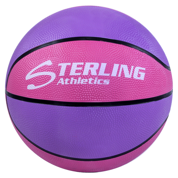 Sterling Athletics Purple/Pink Indoor/Outdoor Rubber Basketball