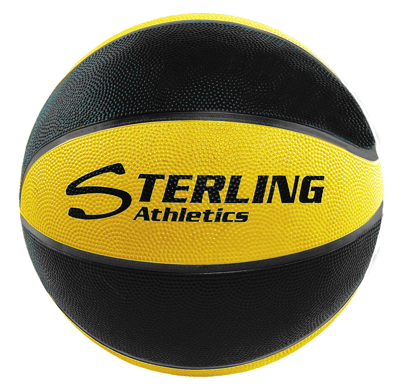 Sterling Athletics Black/Gold Indoor/Outdoor Rubber Basketball
