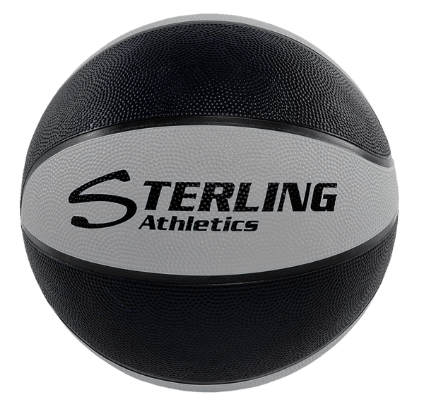 Sterling Athletics Black/Grey Indoor/Outdoor Rubber Basketball