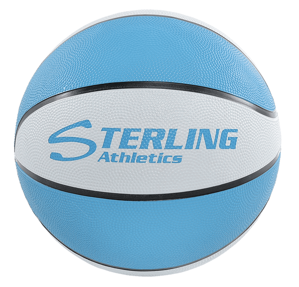 Sterling Athletics Carolina Blue/White Indoor/Outdoor Rubber Basketball