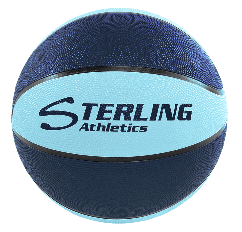 Sterling Athletics Navy/Carolina Indoor/Outdoor Rubber Basketball