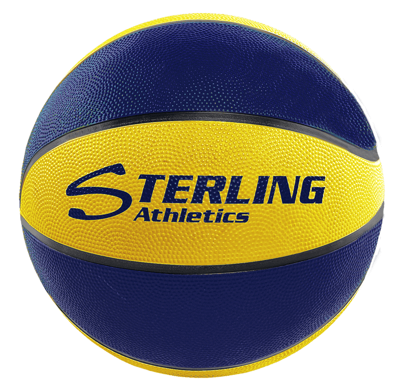 Sterling Athletics Navy/Gold Indoor/Outdoor Rubber Basketball