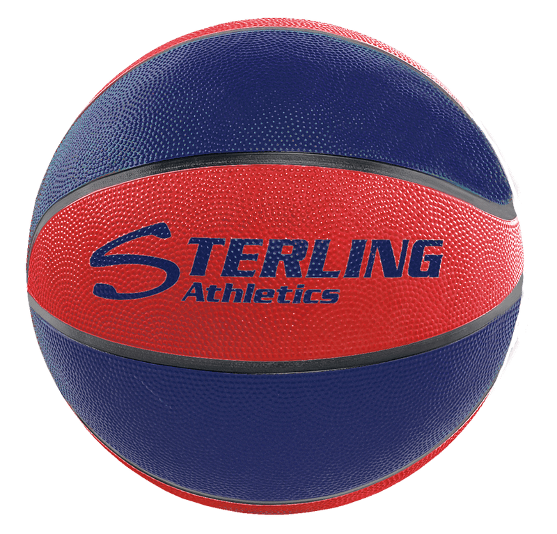 Sterling Athletics Navy/Red Indoor/Outdoor Rubber Basketball