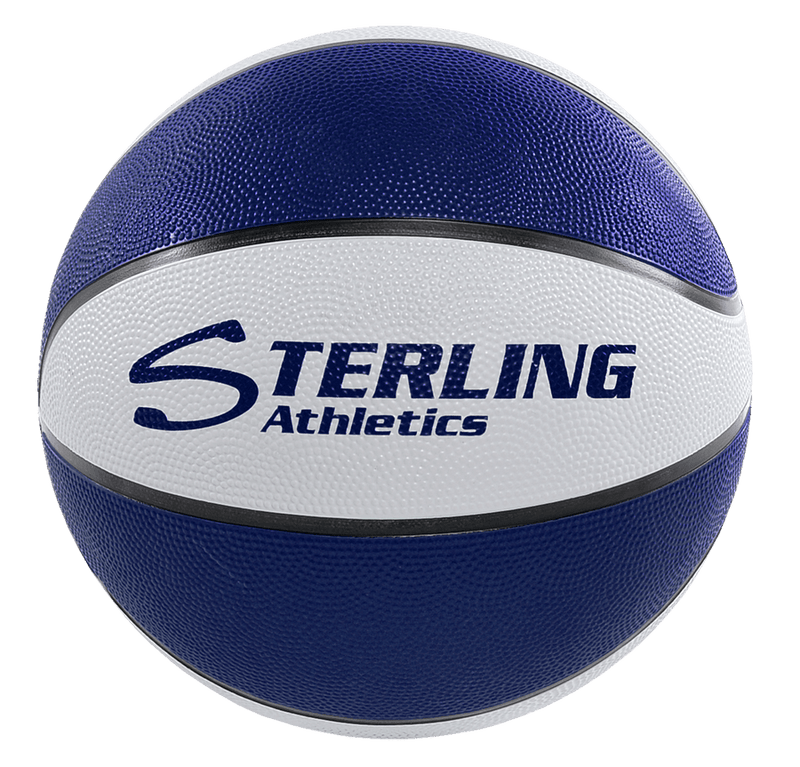 Sterling Athletics Navy/White Indoor/Outdoor Rubber Basketball