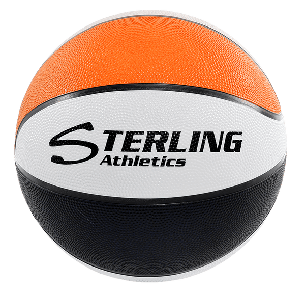 Sterling Athletics Orange/Black/White Indoor/Outdoor Rubber Basketball