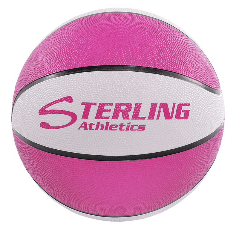 Sterling Athletics Pink/White Indoor/Outdoor Rubber Basketball