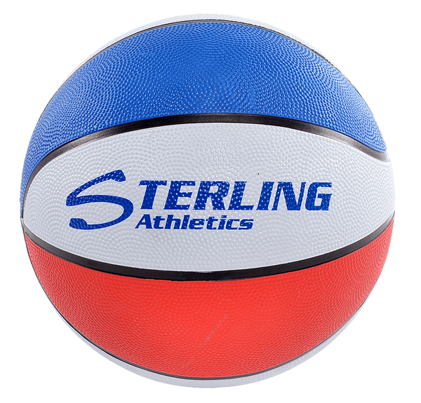 Sterling Athletics Red/White/Royal Indoor/Outdoor Rubber Basketball